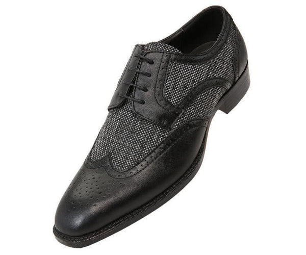 Keller Colored Twill And Smooth Wingtip Derby Dress Shoe Derby Black / 10