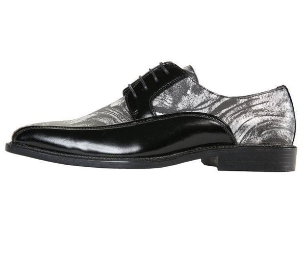 Gene Metallic Swirl Print Bike Track Oxford Derby