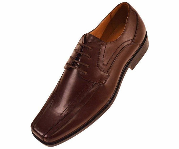 7815 Classic Smooth Oxford Lace Up Dress Shoe Lace Up Brown / 7