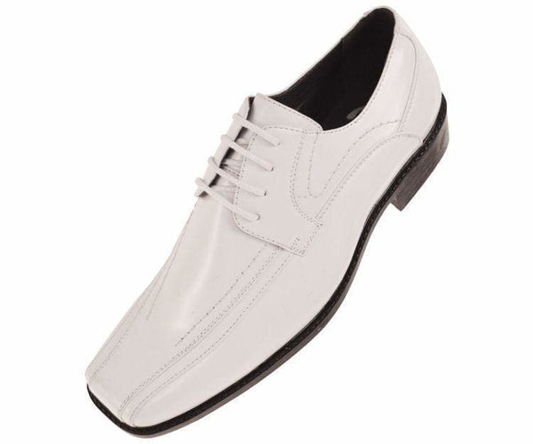 7815 Classic Smooth Oxford Lace Up Dress Shoe Lace Up White / 7