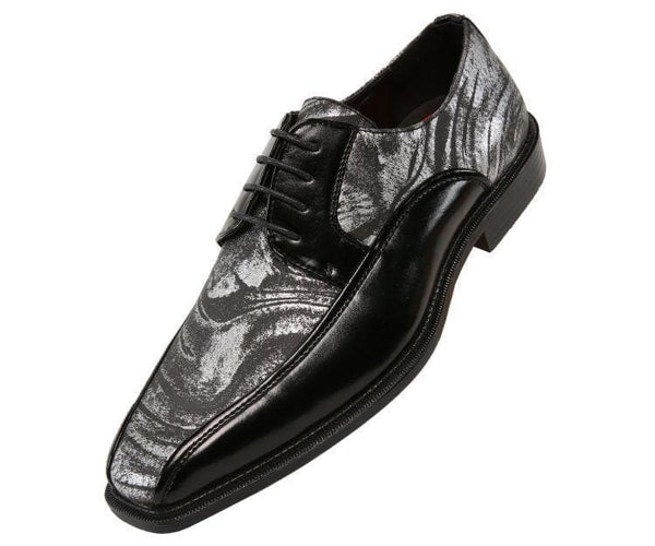 Gene Metallic Swirl Print Bike Track Oxford Derby Silver / 10