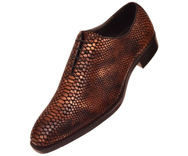 Seabrook Exotic Snake Printed Oxford Dress Shoe Oxfords Brown / 10
