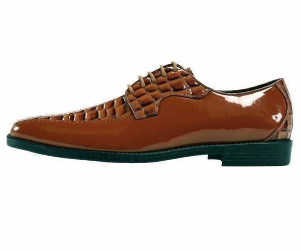 Hanner Colored Crocodile Printed Oxford Derby