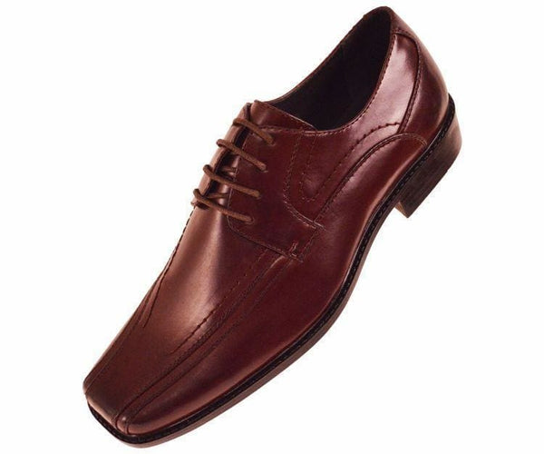 7815 Classic Smooth Oxford Lace Up Dress Shoe Lace Up Burgundy / 10