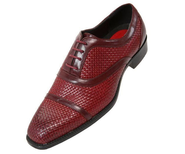 Weaver Woven Smooth Cap-Toe Oxford Oxfords Burgundy / 10
