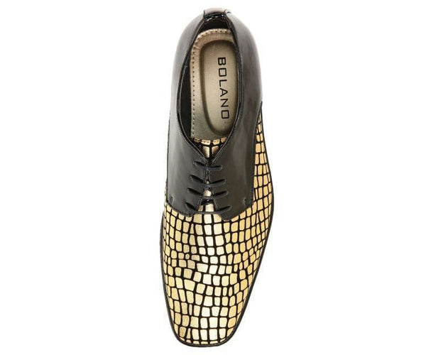 Duncan Croco Printed Exotic Formal Oxford Dress Shoes Derby