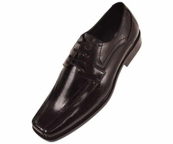 7815 Classic Smooth Oxford Lace Up Dress Shoe Lace Up Black / 10
