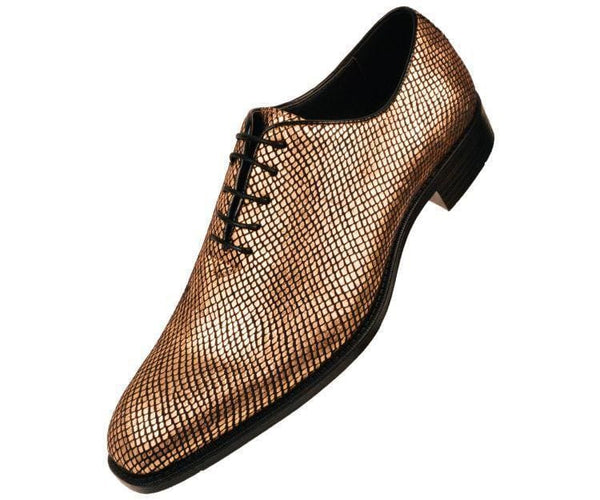 Brent Shiny Snake Printed Oxford Oxfords Gold / 10