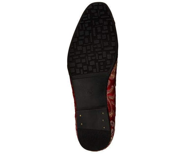 Fabian Sequin Embroidered Smoking Slipper Smoking Slippers