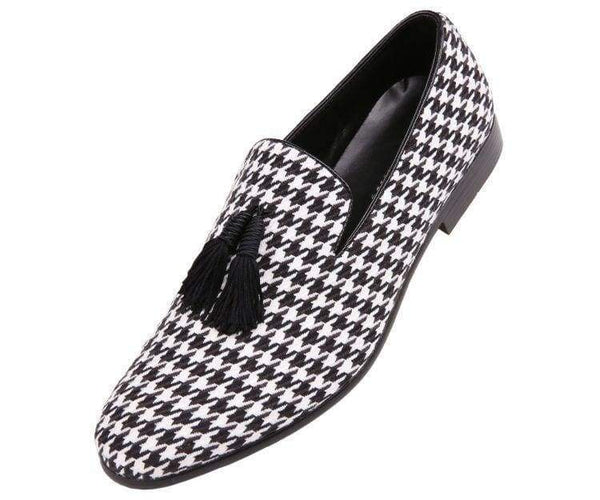 Orleans Mini Star Covered Smooth Smoking Slipper Smoking Slippers Black/white / 10