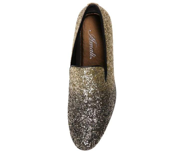 Noble Faded Silver To Black Glitter Smoking Slippers Smoking Slippers