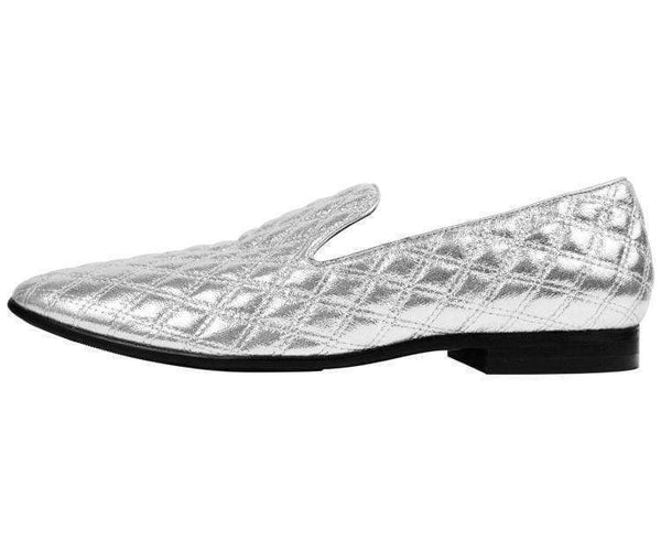 Clawson Metallic Quilted Smoking Slipper Smoking Slippers