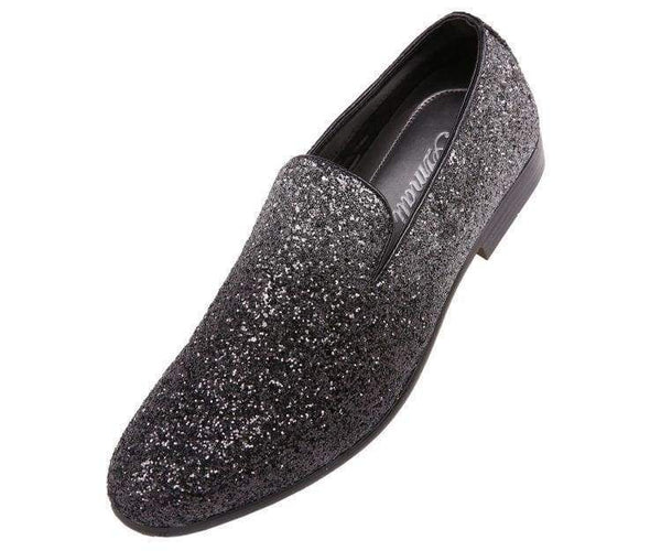 Noble Faded Silver To Black Glitter Smoking Slippers Smoking Slippers Silver / 10