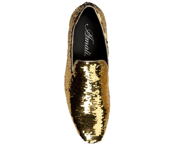 Flipp Smoking Slipper Reversible Metallic Sequins Loafer Dress Shoe Smoking Slippers