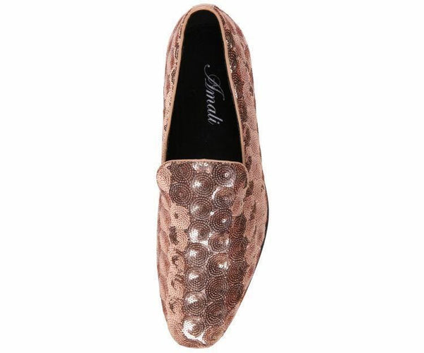 Swirl Sequin Circle Patterned Smoking Slipper Smoking Slippers