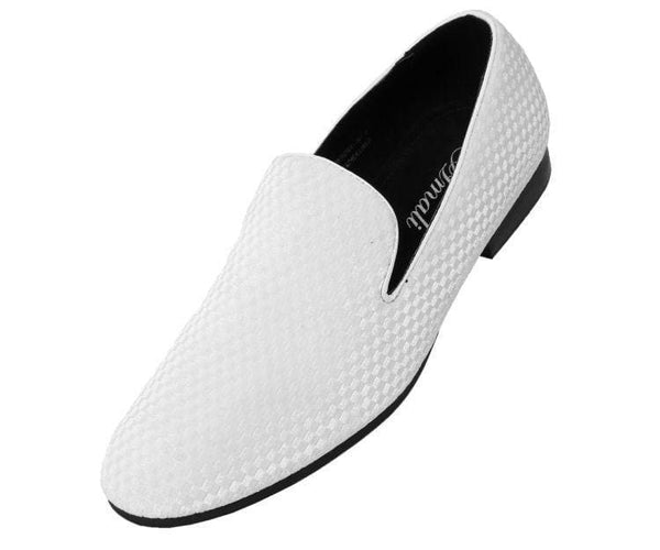 Hemingway Checkered Velvet Smoking Slipper Smoke White / 10
