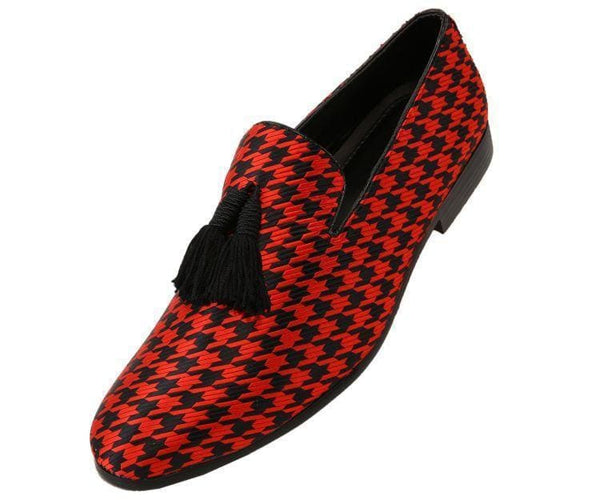 Hugo Houndstooth Tassled Slip On Smoking Black/red / 10