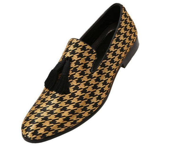 Hugo Houndstooth Tassled Slip On Smoking Black/gold / 10