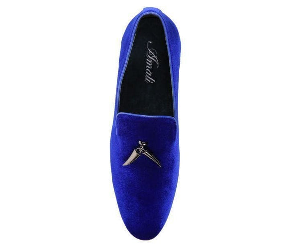 Heath Velvet Smoking Slipper With Metal Horn Tassel Smoking Slippers