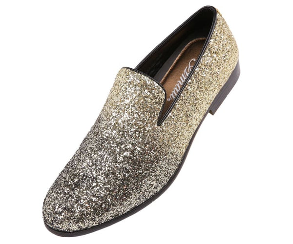 Noble Faded Silver To Black Glitter Smoking Slippers Smoking Slippers Gold / 10
