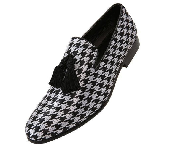 Hugo Houndstooth Tassled Slip On Smoking Black/silver / 10
