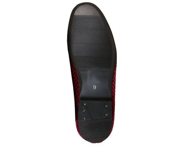 Hemingway Checkered Velvet Smoking Slipper Smoke