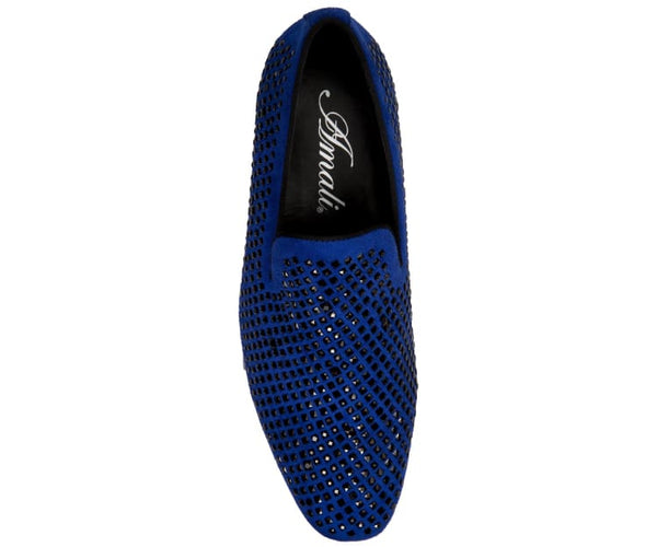 Devy Small Studded Smoking Slipper Dress Shoes Smoking Slippers