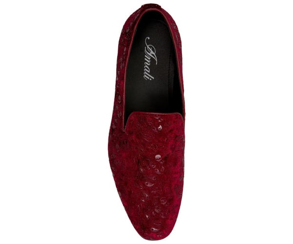 Metta Mens Paisley Patterned Smoking Slippers Smoking Slippers