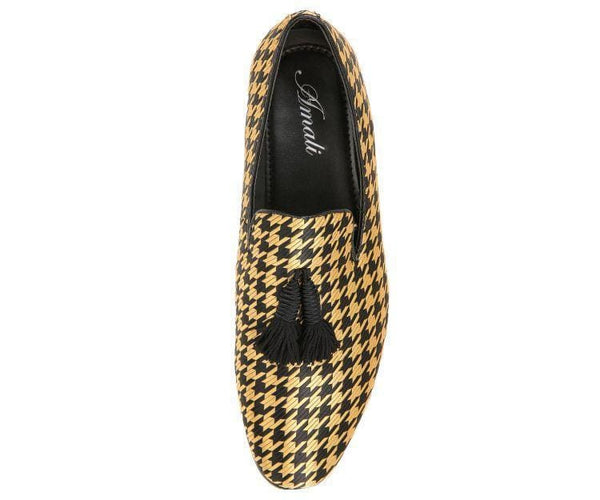 Hugo Houndstooth Tassled Slip On Smoking