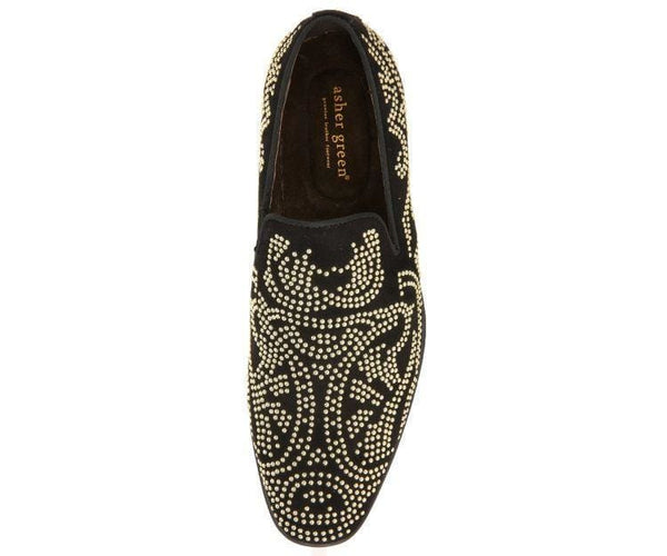 Ag9392 Gold Studded Smoking Slipper Smoking Slippers
