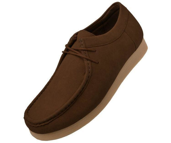 Jimmy Faux Suede Low Top Moc Fashion Sneakers Brown / 10
