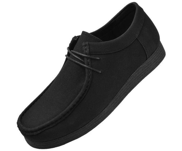 Jimmy Faux Suede Low Top Moc Fashion Sneakers Black / 10