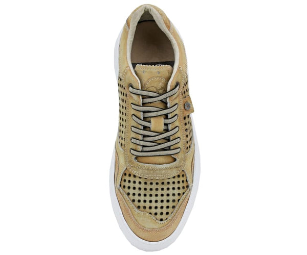 COXX BORBA Genuine Casual Sneaker with Detailed Perforations and White Bottom, Hand Crafted in Portugal