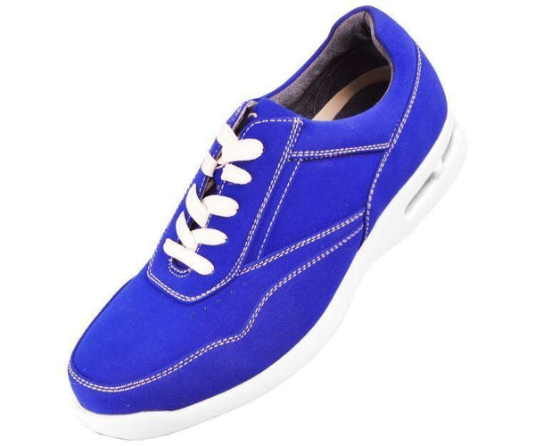 Skipper Nubuck Faux Leather Low Top Sneaker Sneakers Royal Blue / 10