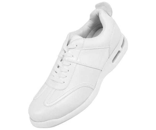 Saxon Faux Leather Top Sneaker Sneakers White / 10