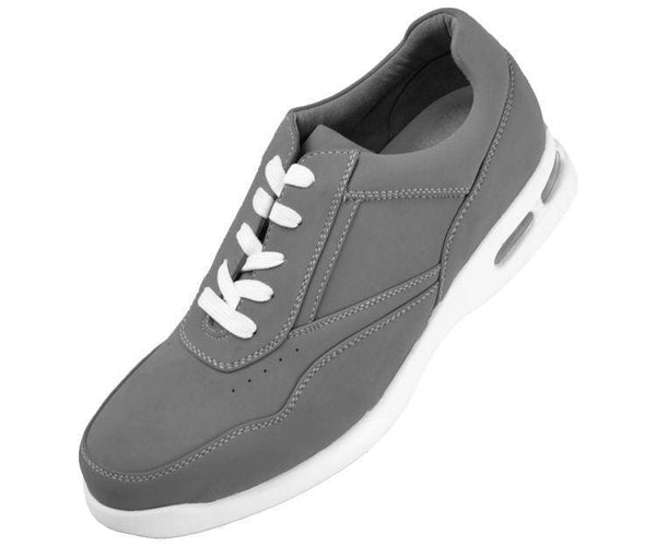 Skipper Nubuck Faux Leather Low Top Sneaker Sneakers Grey / 10