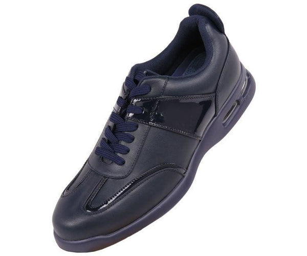 Saxon Faux Leather Top Sneaker Sneakers Navy / 10
