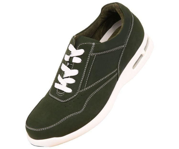 Skipper Nubuck Faux Leather Low Top Sneaker Sneakers Hunter Green / 10