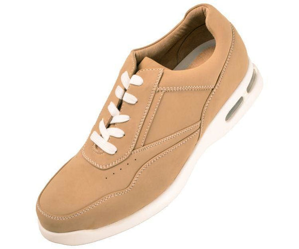 Skipper Nubuck Faux Leather Low Top Sneaker Sneakers Champagne / 10