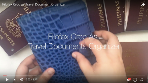 Filofax Croc as Travel Document Organizer (Vlog)