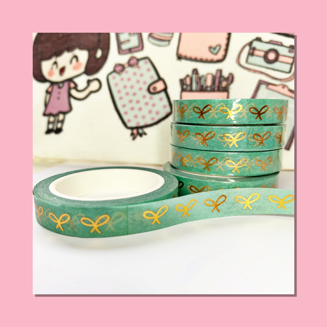 Bow in Sea Foam Washi Tape