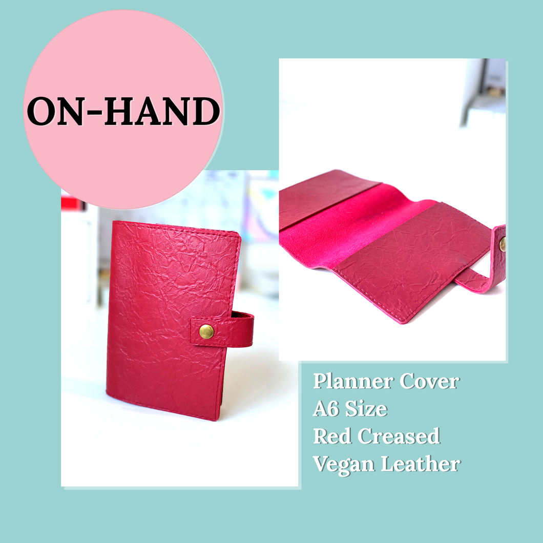 A6 Planner Cover in Red