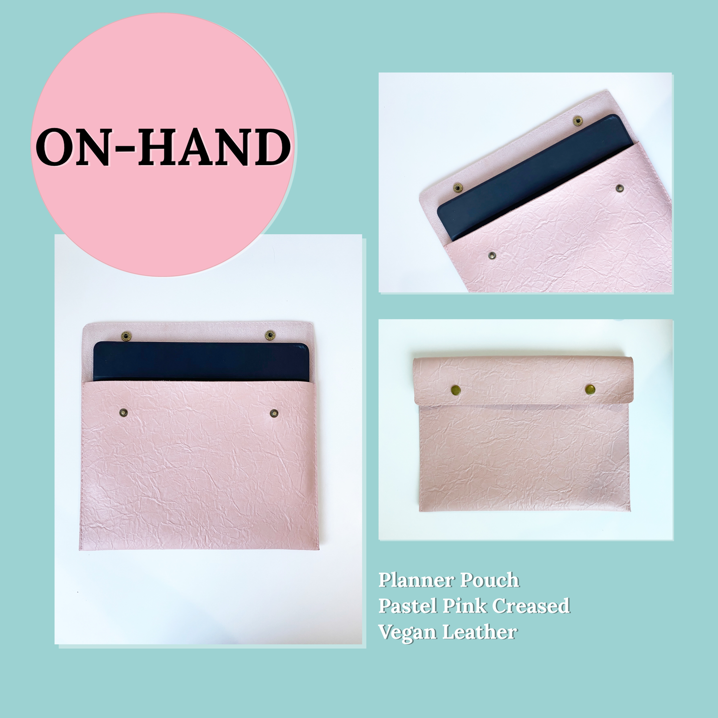 Planner Pouch in Pastel Pink