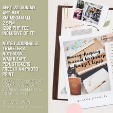 Load image into Gallery viewer, Memory-Keeping Journal Workshop (With Budget Tips)
