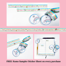 Load image into Gallery viewer, Kumo Over The Rainbow Washi Tape