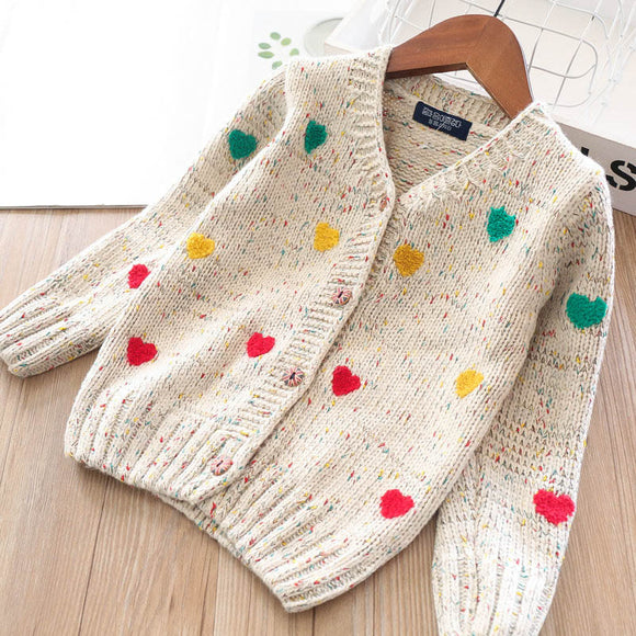 Toddler Girls Cotton Knit Cardigan 4-5 years - Just Be Special