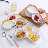 Colorful non-toxic cartoon ceramic breakfast plate - Just Be Special