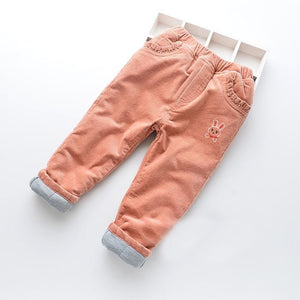 Toddler Girls Warm Winter Velour Pants 6-7 / 7-8 / 8-9 years - Just Be Special