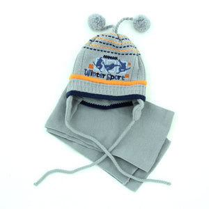 Baby Boys Winter Knit Cotton Hat Scarf Set 9-12m - Just Be Special