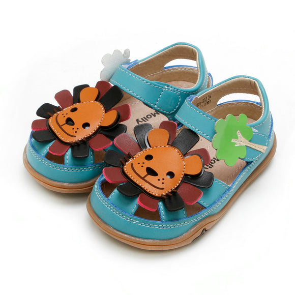 Toddler Boys Cute Lion Sandals Toddler 11 - 13 - Just Be Special
